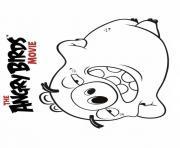 angry birds le film le cochon dessin à colorier