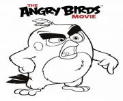 angry birds le film red fache dessin à colorier