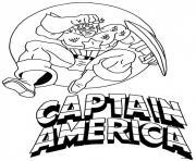 captain america avec logo dessin à colorier