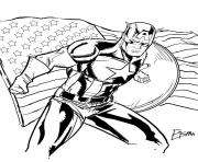 colorier captain america 50 dessin à colorier