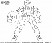 colorier captain america 39 dessin à colorier