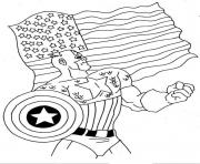 colorier captain america 100 dessin à colorier