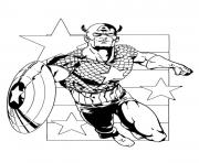colorier captain america 334 dessin à colorier