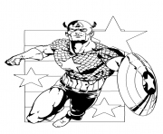 colorier captain america 368 dessin à colorier