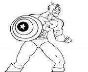 colorier captain america 171 dessin à colorier