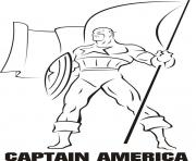 colorier captain america 243 dessin à colorier