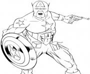 colorier captain america 66 dessin à colorier