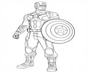 Coloriage Captain America Civil War.Coloriage Captain America A Imprimer Dessin Sur Coloriage Info
