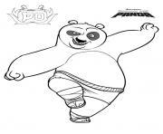 Po le Panda de fung fu panda dessin à colorier