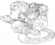 kung fu panda tai lung dessin à colorier