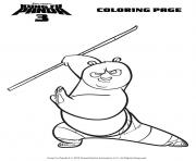 Coloriage kung fu panda maitre grue dessin