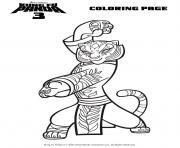 kung fu panda 3 maitre tigresse dessin à colorier