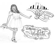 Coloriage violetta danse notes