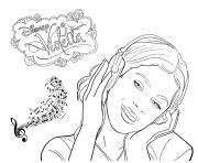 violetta musique disney dessin à colorier