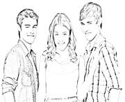 Coloriage personnages violetta tomas leon maxi andrew dessin