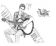 coloriage violetta thomas guitare