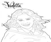 Coloriage Violetta fait un shooting photo