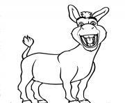 ane shrek avec le sourire dessin à colorier