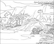 Coloriage dinosaure 100 dessin