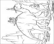 dinosaure gratuit 34 dessin à colorier