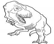 Coloriage dessin dinosaure brontosaure dessin - Tyrannosaure a colorier ...