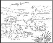 dinosaure 36 dessin à colorier