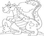 dinosaure 365 dessin à colorier