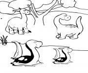dinosaure 383 dessin à colorier