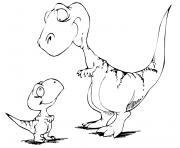 dinosaure 2 dessin à colorier