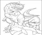 dinosaure 100 dessin à colorier
