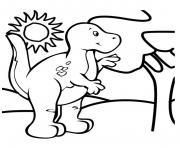 dinosaure 230 dessin à colorier
