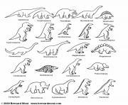 liste des dinosaures dessin à colorier