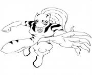 Coloriage ultimate spiderman white tiger 2