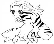 ultimate spiderman white tiger dessin à colorier