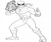 Coloriage ultimate spiderman iron fist