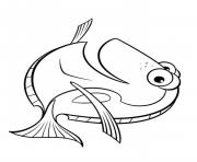Coloriage dory le monde de dory simple