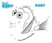 Coloriage le monde de dory point a relier 2