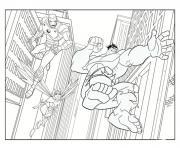 iron man avec hulk dessin à colorier