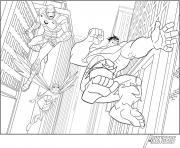 iron man avengers avec hulk dessin à colorier