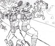 Coloriage iron man 3 marvel mode defense dessin