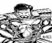 Coloriage iron man 188 dessin