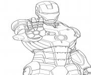 Coloriage iron man 68 dessin