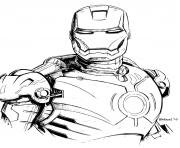 iron man 4 dessin à colorier