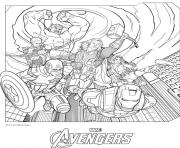 Coloriage avengers 15