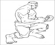avengers ancien hulk dessin à colorier