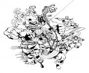 tous les avengers et heroes dessin à colorier