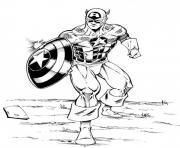 avengers captain america dessin à colorier