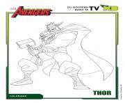 avengers thor disney xd dessin à colorier