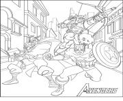 Coloriage avengers 11