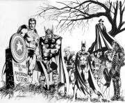 Coloriage avengers super heros